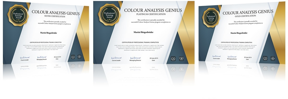 colour analysis genius certification